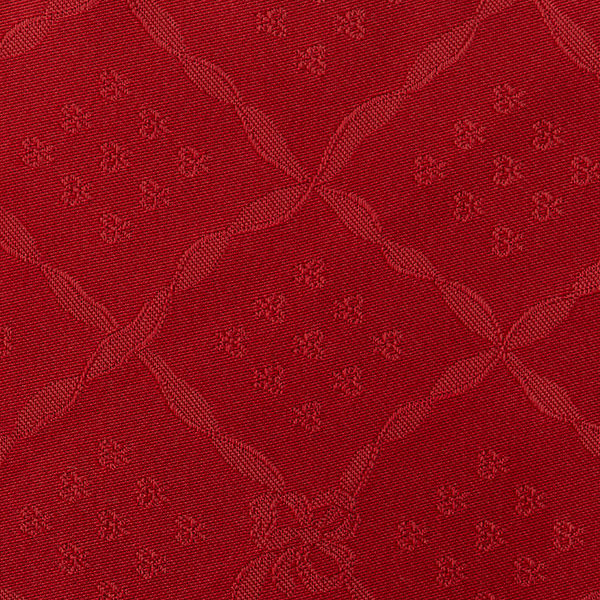 Magilu International - Tovaglia antimacchia e antistiro su misura per ristorante - Mod. Classico Nodo D'Amore rosso