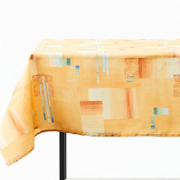 Magilu International - Tovaglia antimacchia e antistiro su misura per ristorante - Mod. Fantasia Geometrico giallo