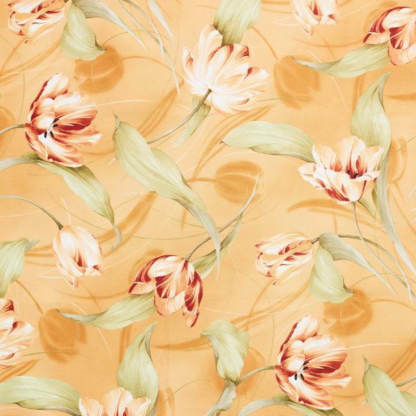 Magilu International - Tovaglia antimacchia e antistiro su misura per ristorante - Mod. Fantasia Tulipano oro