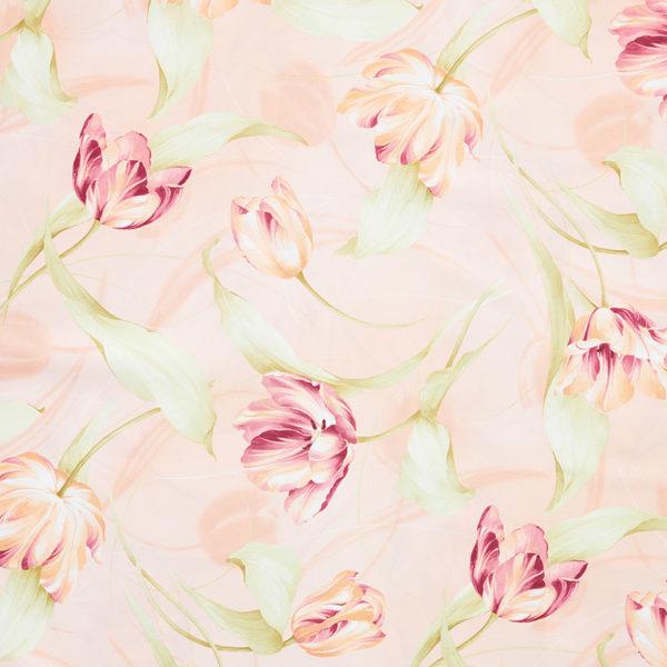 Magilu International - Tovaglia antimacchia e antistiro su misura per ristorante - Mod. Fantasia Tulipano rosa