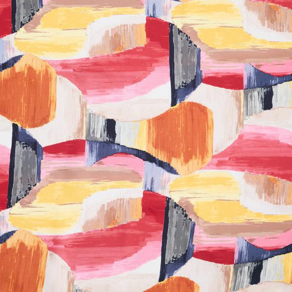Magilu International - Tovaglia antimacchia e antistiro su misura per ristorante - Mod. Fantasia Picasso rosso