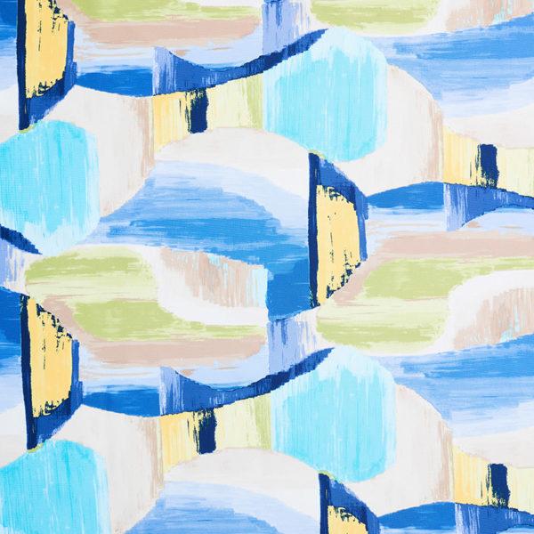 Magilu International - Tovaglia antimacchia e antistiro su misura per ristorante - Mod. Fantasia Picasso blu