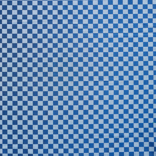 Magilu International - Tovaglia antimacchia e antistiro su misura per ristorante - Mod. Fantasia Damina blu