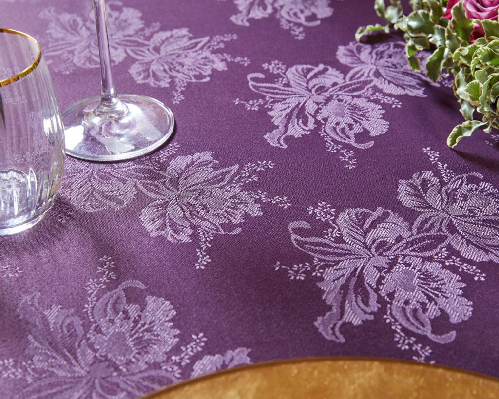 Magilu International - Tovaglia antimacchia e antistiro su misura per ristorante - Mod. Orchidea