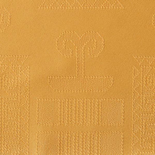 Magilu International - Tovaglia antimacchia e antistiro su misura per ristorante - Mod. Geometrico oro