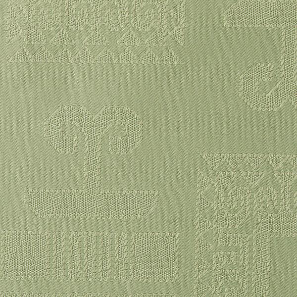 Magilu International - Tovaglia antimacchia e antistiro su misura per ristorante - Mod. Geometrico verde salvia