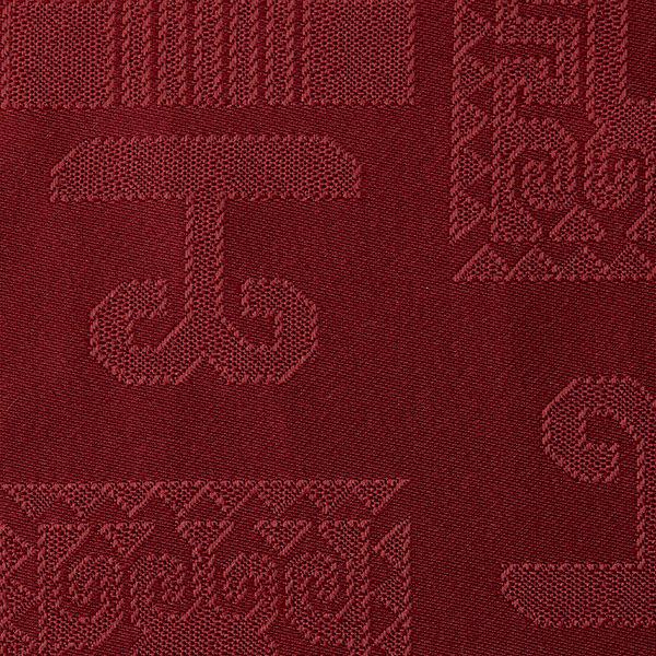 Magilu International - Tovaglia antimacchia e antistiro su misura per ristorante - Mod. Geometrico bordeaux