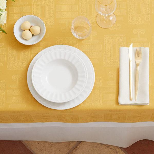 Magilu International - Tovaglia antimacchia e antistiro su misura per ristorante - Mod. Geometrico