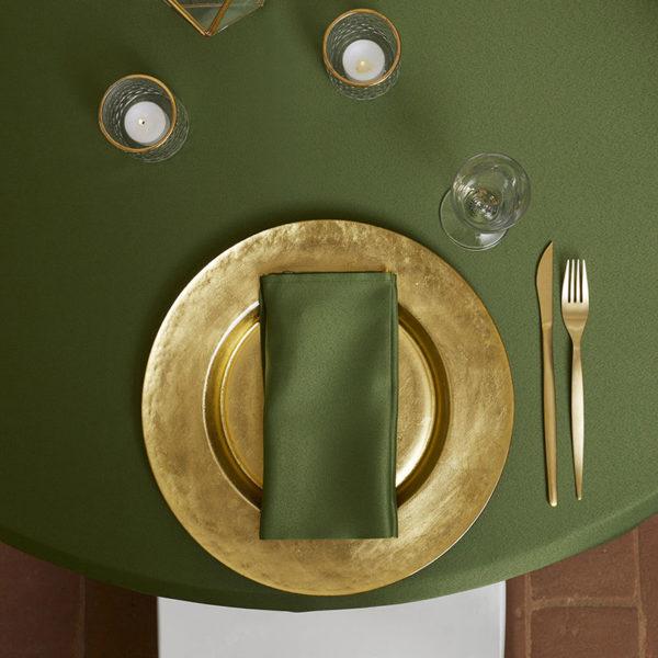 Magilu International - Tovaglia antimacchia e antistiro su misura per ristorante - Mod. Liscio verde pesto