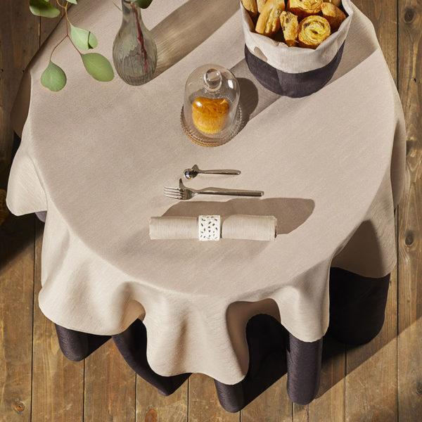 Magilu International - Tovaglia antimacchia e antistiro su misura per ristorante - Mod. Fiammato